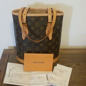 Authentic Louis Vuitton PM Bucket Bag